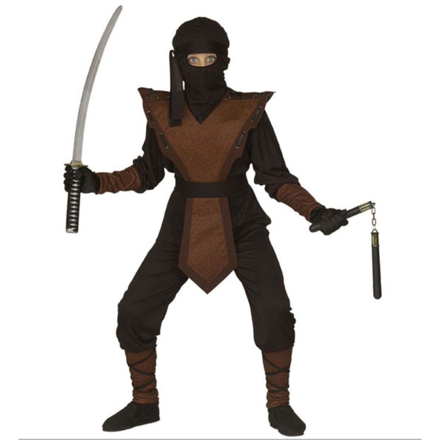 Barna ninja jelmez 158-as