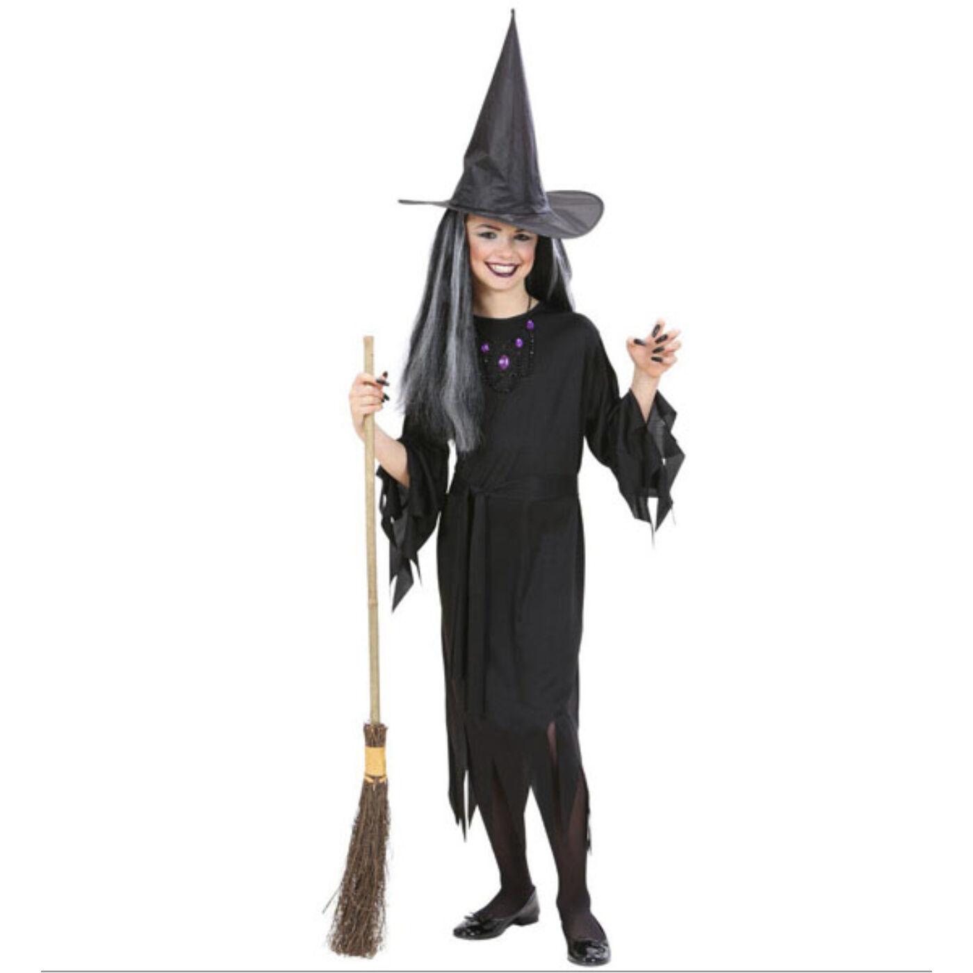 Fekete boszorkány jelmez 140-es
