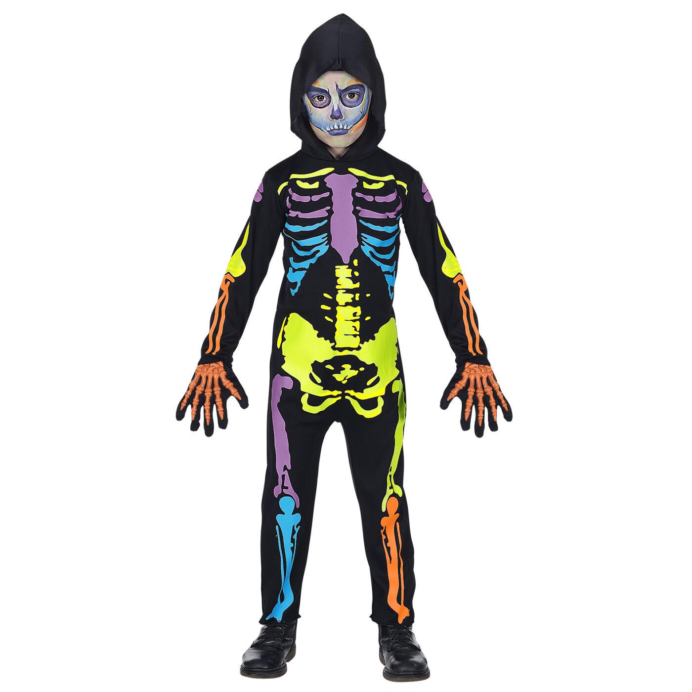 Színes csontváz jelmez 128-as
