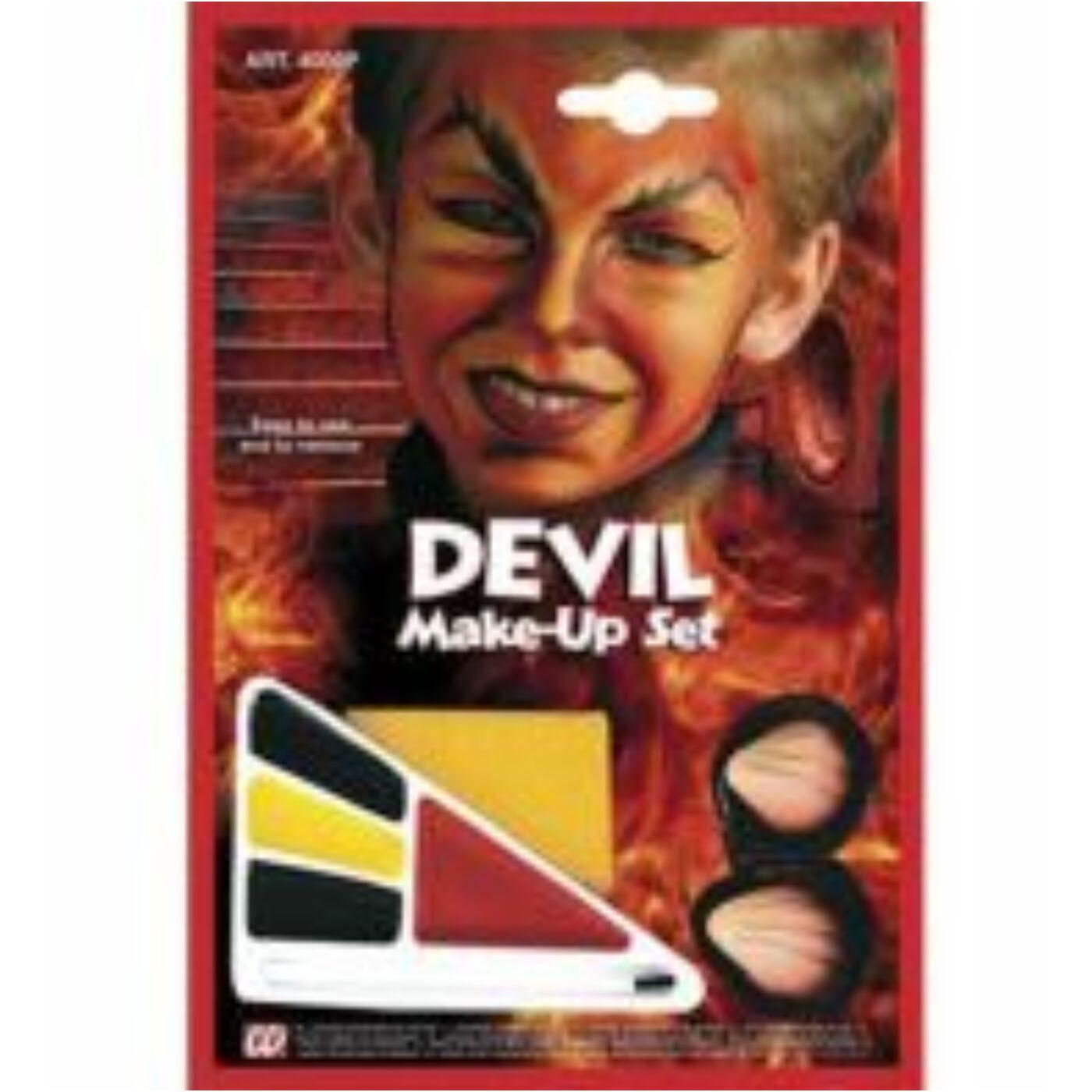 Halloween arcfesték-ördög