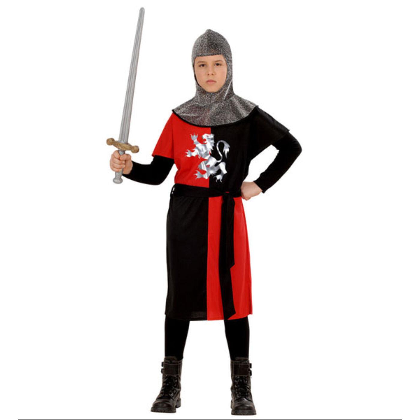 Keresztes Lovag Jelmez piros 128-as