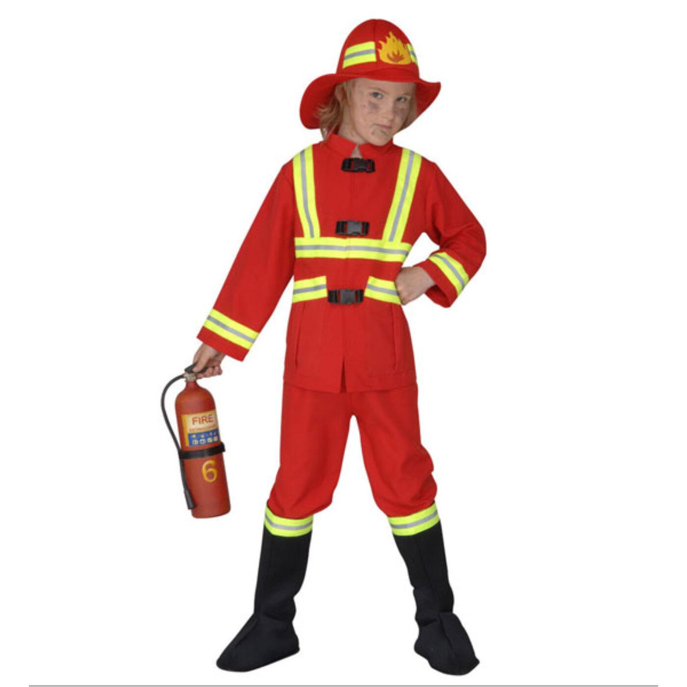 Világító tűzoltó jelmez 140-es