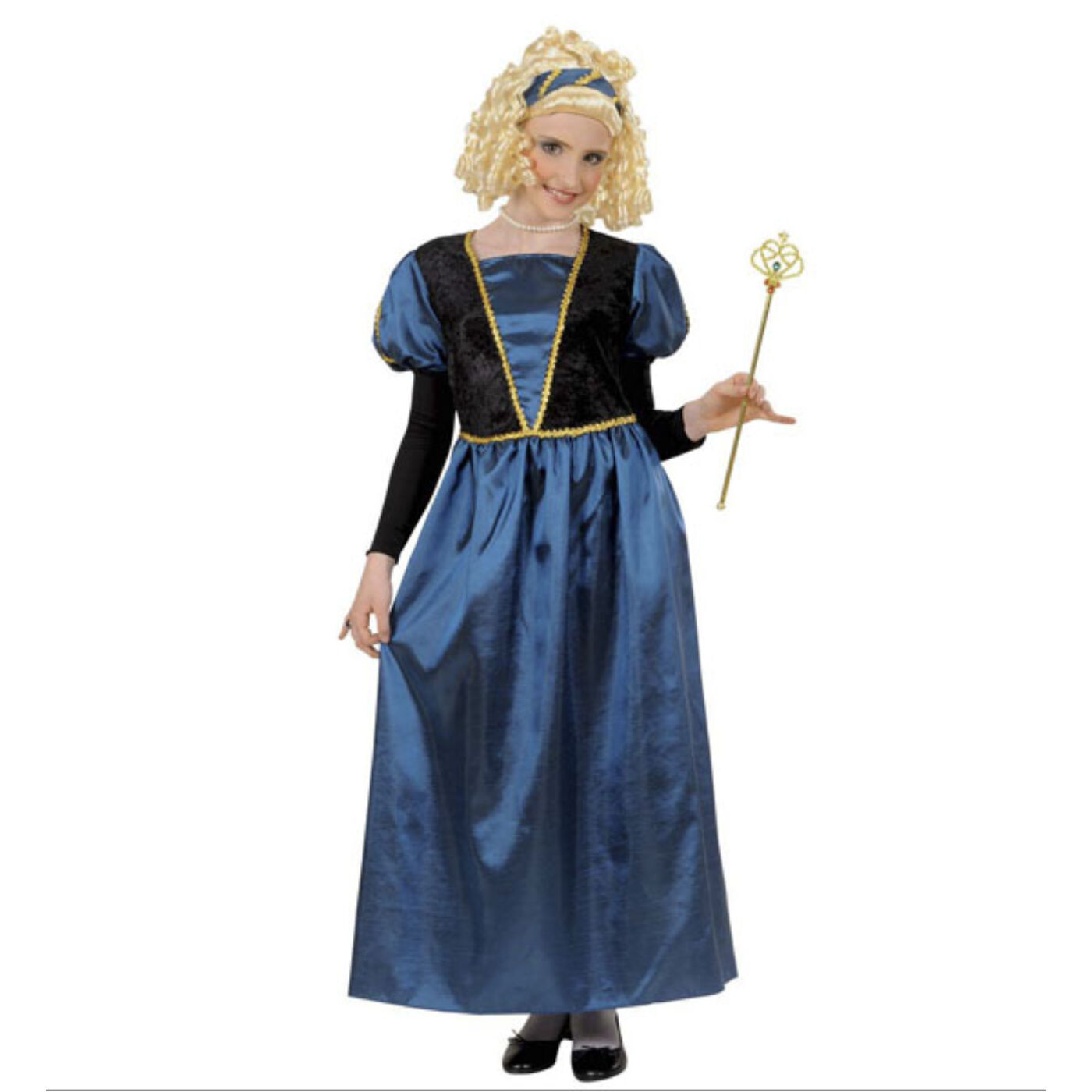 Kék hercegnő jelmez 128-as