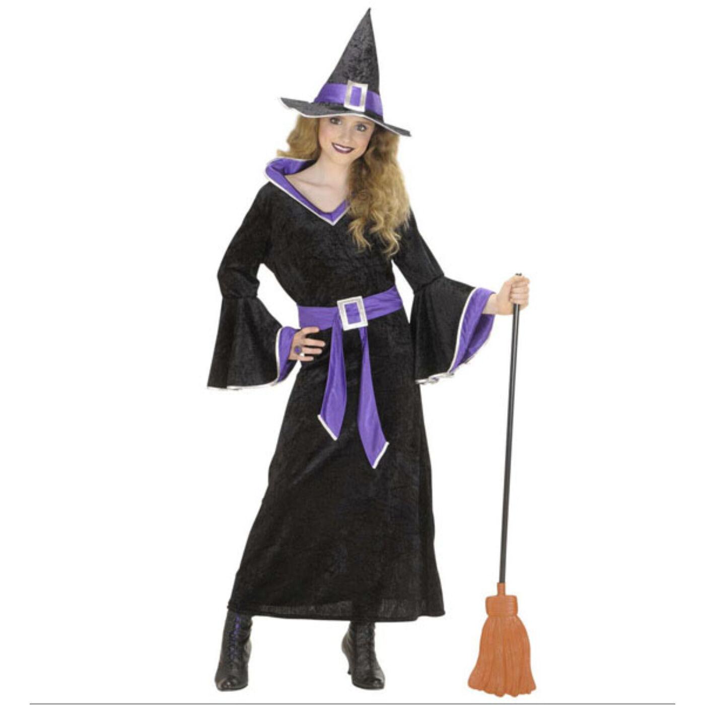 Lila boszorkány jelmez 140-es