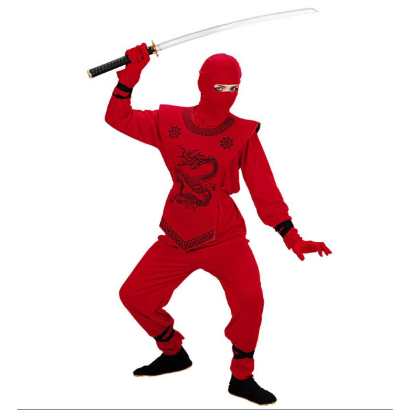 Piros ninja jelmez 128-as