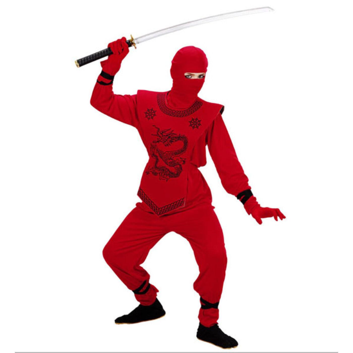 Piros ninja jelmez 158-as
