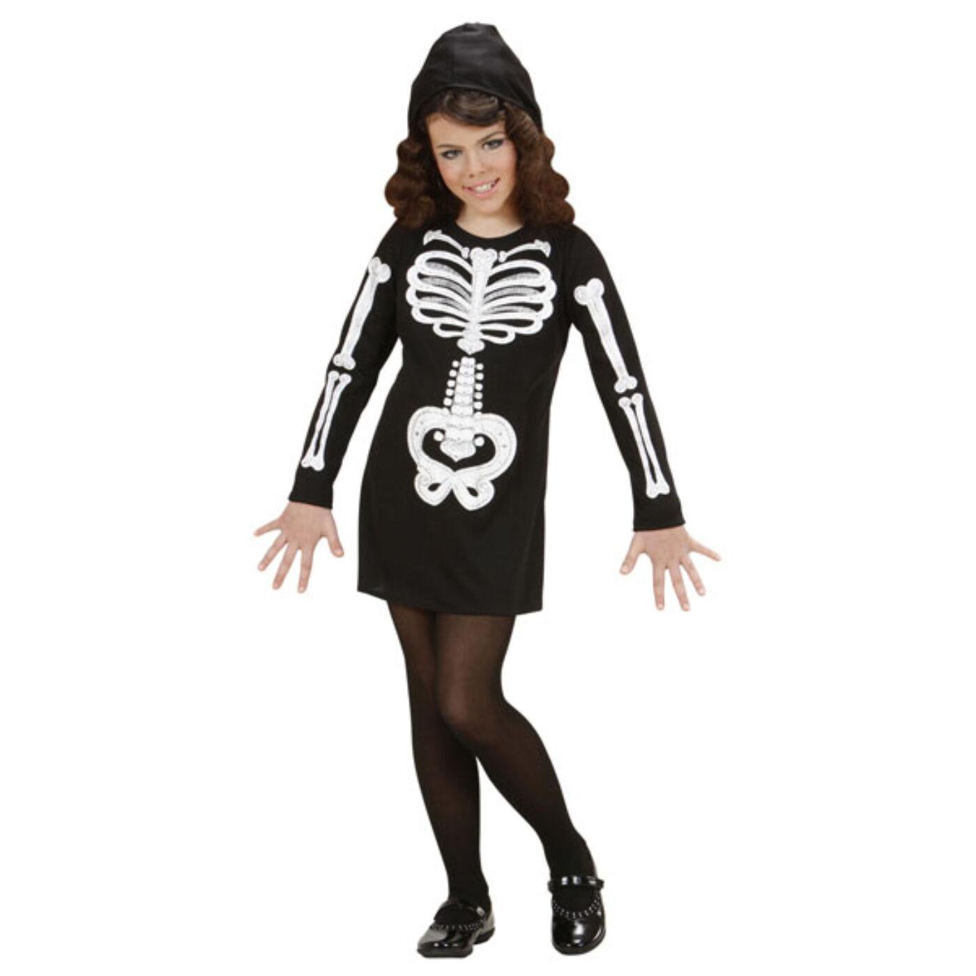 Csillogó csontváz lány jelmez 158-as