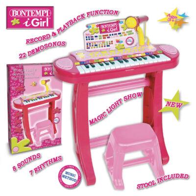 Bontempi Állványos orgona mikrofonnal pink