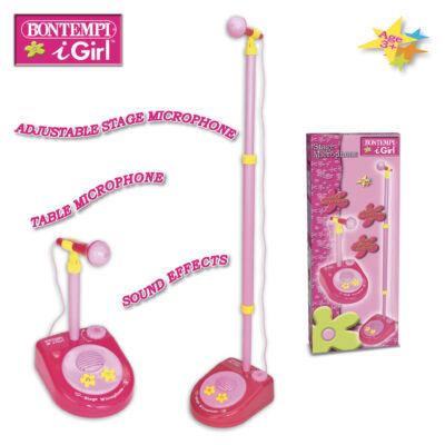 Bontempi Állványos mikrofon pink