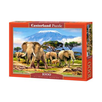 1000 db-os Puzzle - Reggel a Kilimandzsárón