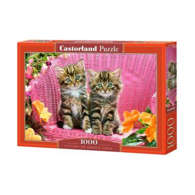 1000 db-os Puzzle - Macskakölykök a kerti székben