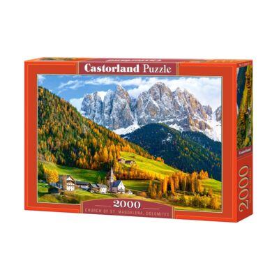 2000 db-os Puzzle - Szent Magdolna templom, Dolomitok