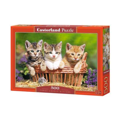 500 db-os puzzle - Három cuki cica
