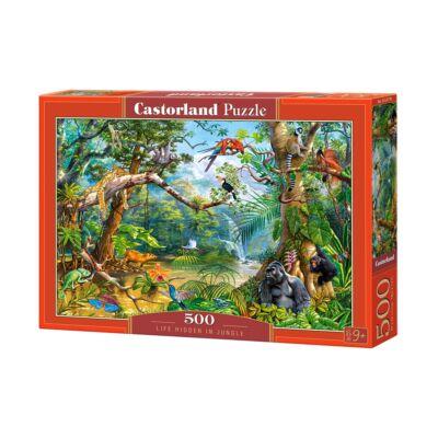 500 db-os puzzle - Titkos élet a dzsungelben