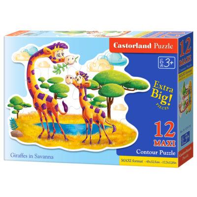 12 db-os maxi puzzle - Zsiráfok a szavannán