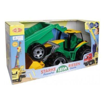 Lena nagy traktor utánfutóval