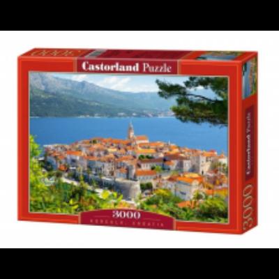 3000 db-os puzzle – Korcula, Horvátország