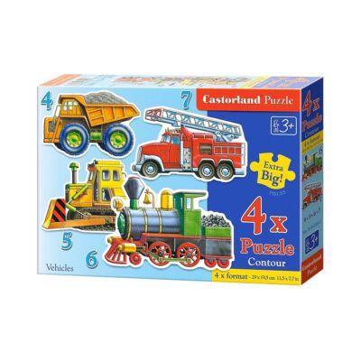 4 az 1-ben puzzle - Járművek