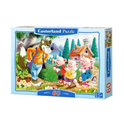 60 db-os Puzzle - A három kismalac