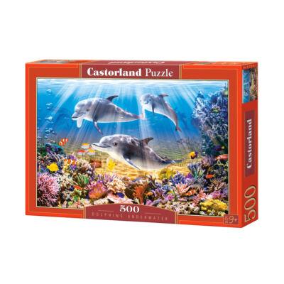 500 db-os Puzzle - Víz alatti delfinek