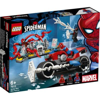 Lego Super Heroes Pókember motoros mentése