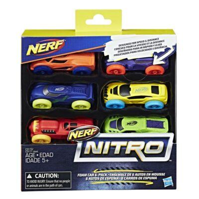 Nerf Nitro autó 6 db-os
